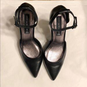 Steven by Steve Madden Black Leather Heels Sz 7